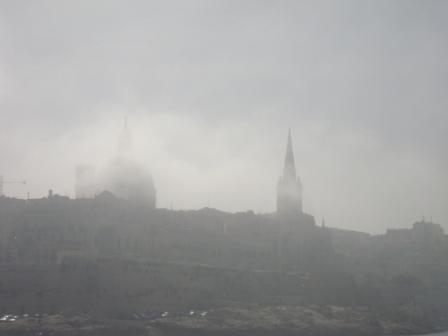 Valletta in Fog